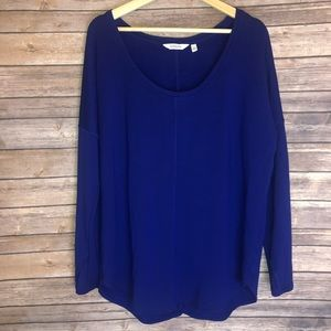 Athleta Scoopneck  Long Sleeve Sweater Top Large